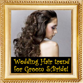 A Wedding Hair Trend for the Groom & Bride!