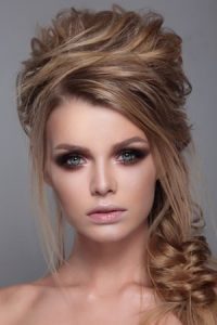 half upstyle for proms